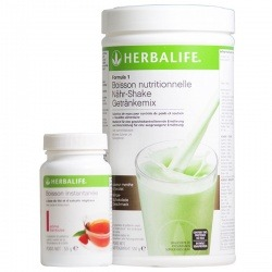 Pack Slim Fit Herbalife Boisson Formula 1 Herbalife + Thé bruleur de graisse Thermojetics