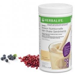 Boisson Formula 1 Herbalife Vanille sans gluten, sans lactose ajouté, ni soja pour stabiliser le poids