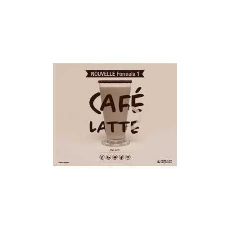 Profitez d'une nutrition équilibrée avec le repas prise de poids Herbalife F1 Café latté