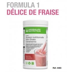 Nouvelle boisson Formula 1 Herbalife délice de fraise en poudre