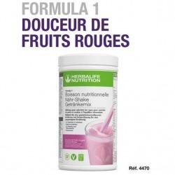 Profitez d'une nutrition équilibrée avec le repas prise de poids Herbalife F1 délice de fruits rouges