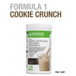 Boisson minceur Formula 1 Herbalife Cookies & Crunch sans gluten sans vegan nouvelle génération