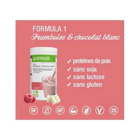 Boisson Formula 1 Herbalife framboise & chocolat blanc pour stabiliser le poids