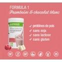 Boisson stabilisation framboise chocolat blanc Formula 1 Herbalife sans gluten