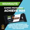 6 barres protéinées Achieve H24 Herbalife. Chocolat noir intense ou chip cookie dough