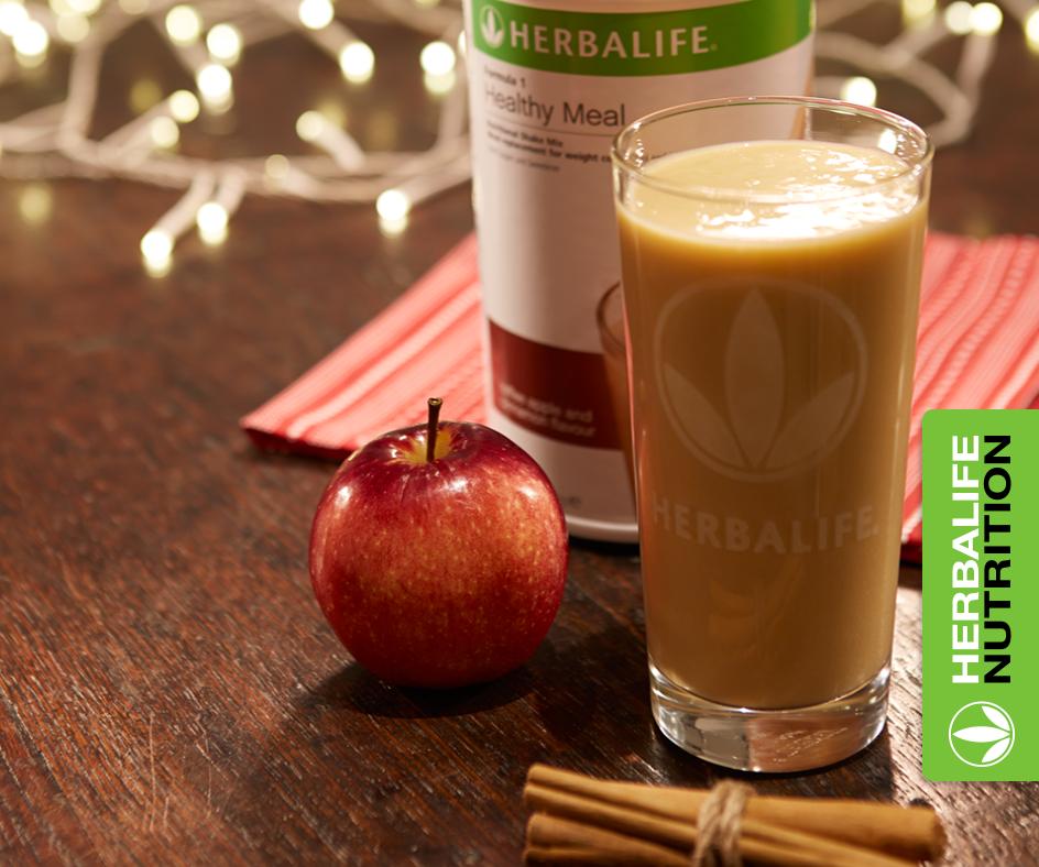 Recette Shake Formula 1 caramel pomme cannelle Herbalife