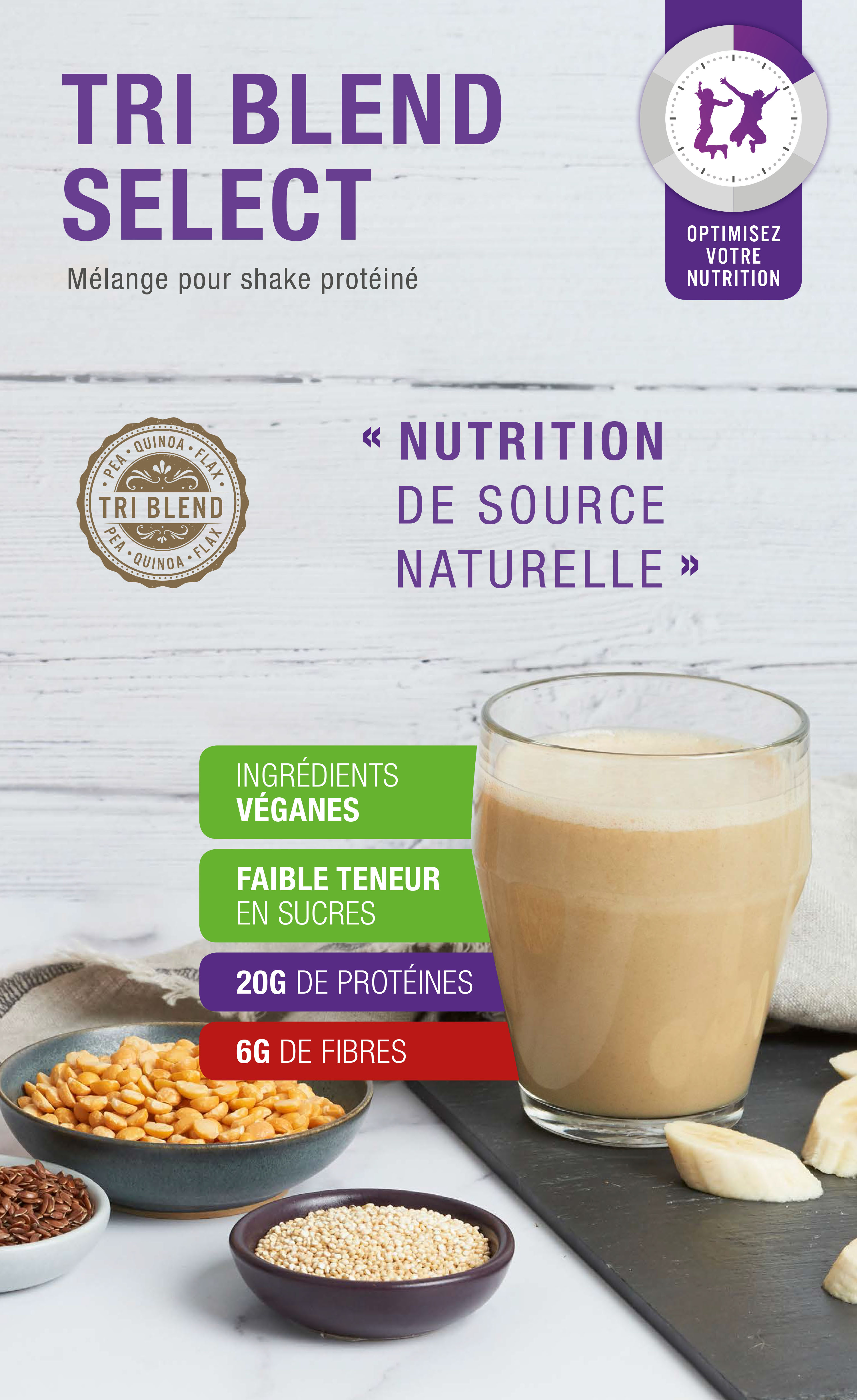 Shake vegan premium 100% naturel Herbalife Tri Blend Select