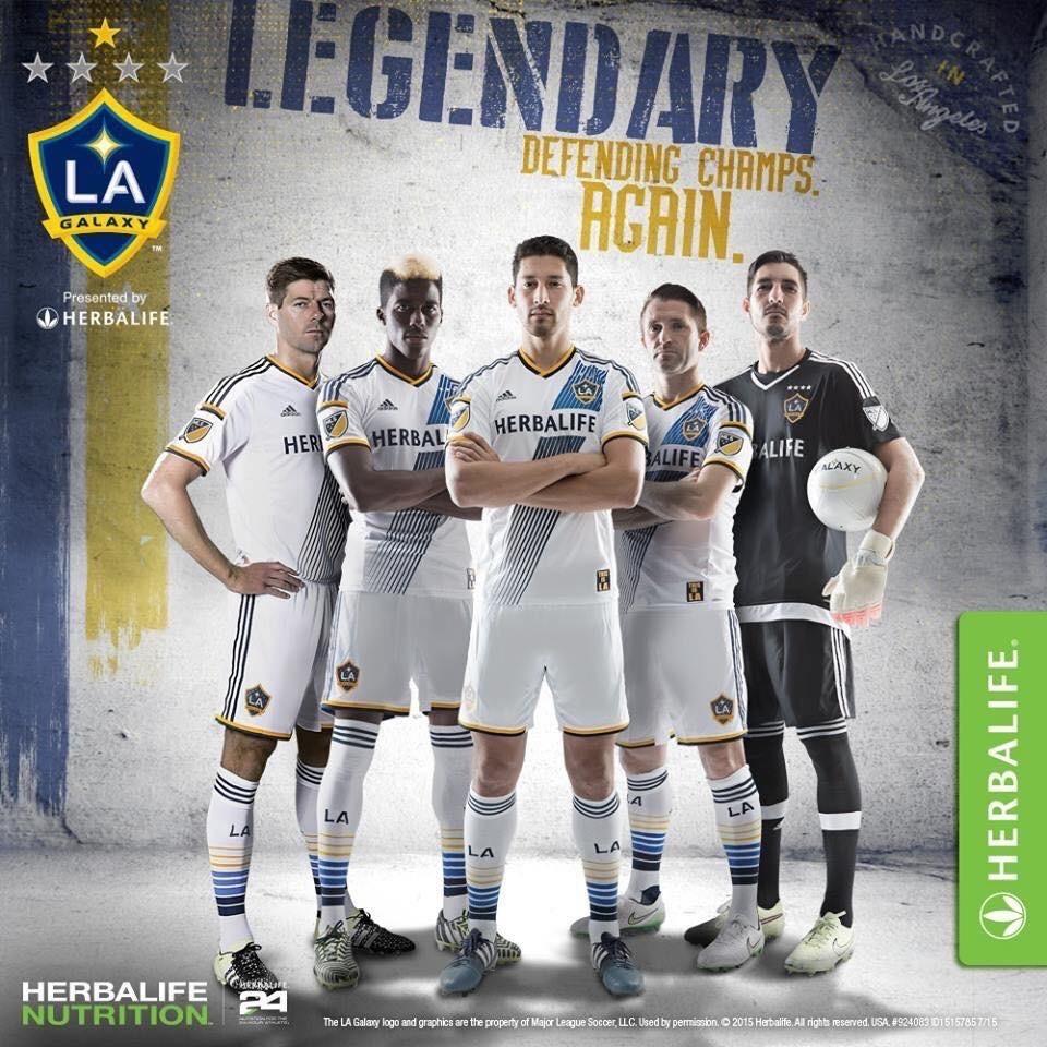 LA Galaxy, équipe de la Major League Soccer sponsorisée par Herbalife et dont Steven Gerrard fait partie