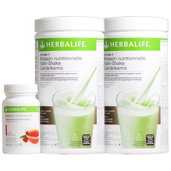 Pack Fit & Forme. 2 boissons Formula 1 Herbalife + 1 thé brûleur de graisse Thermojetics