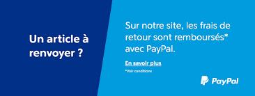 Vos frais de retour remboursés par Paypal