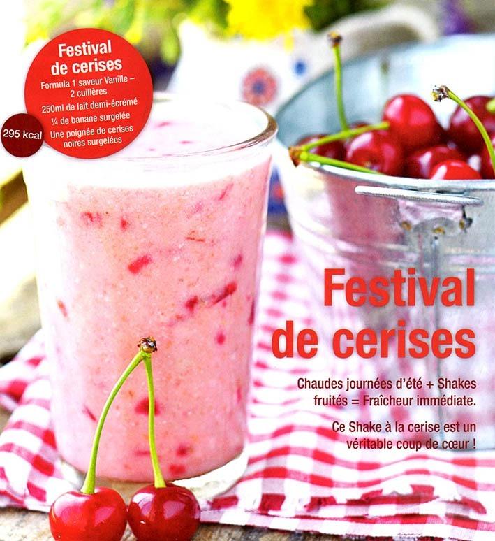 Festival de cerises Shake Formula 1 vanille Herbalife